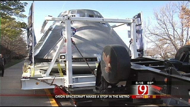 NASA's New Spacecraft Lands In Oklahoma City