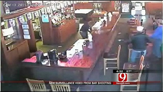 Surveillance Camera Captures Video Of Shooting At OKC Bar