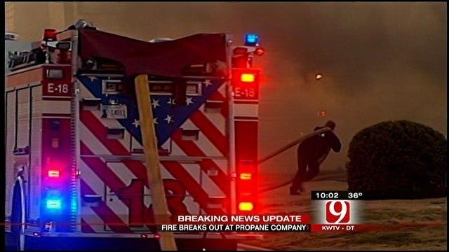 Fire Damages Oklahoma City Propane Business