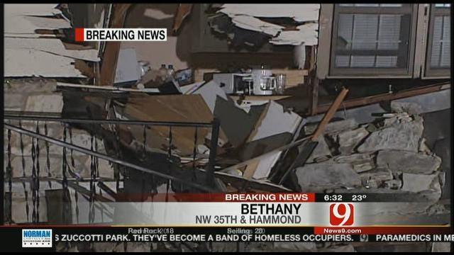 Car Crashes Into Bethany House