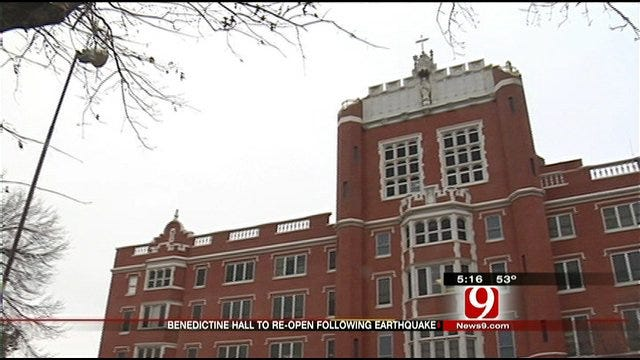 St. Gregory's Students, Faculty Return To Quake-Damaged Building