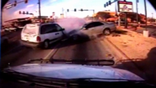 Video Of Police Chase Crash In Southwest Oklahoma City