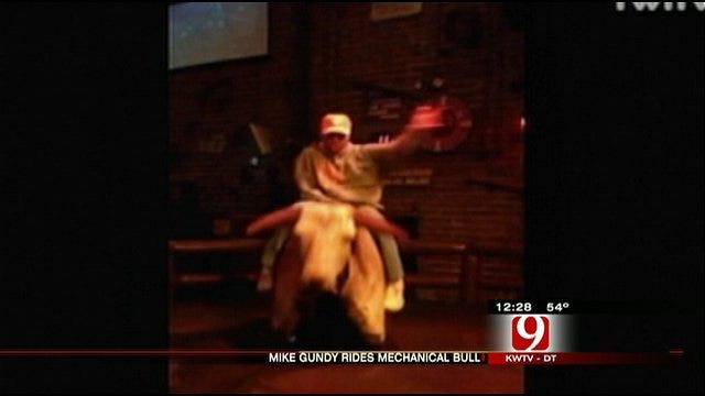 OSU Coach Mike Gundy Takes A Wild Ride