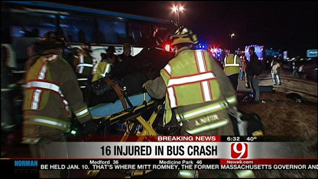 Greyhound Bus Crashes Into Street Sweeper