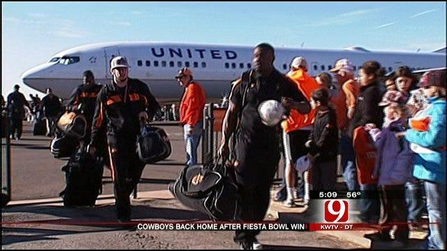 Oklahoma State Cowboys Return Home