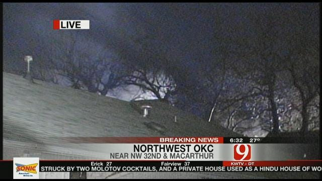 Two Houses CatchFire In Northwest OKC