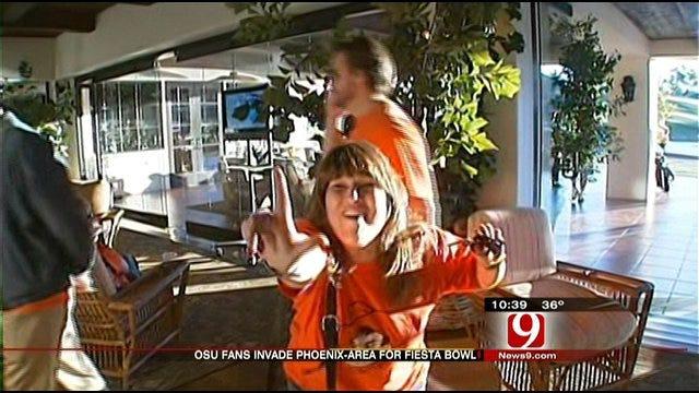OSU Fans Paint Phoenix Area Orange Leading Up To Fiesta Bowl