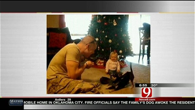 Oklahoma Soldier, Daughter Share Some Laughs