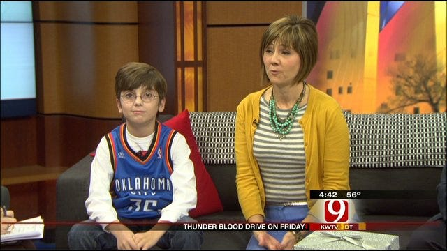 Thunder To Hold Blood Drive Friday