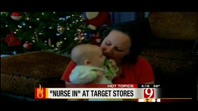 Hot Topics: Nursing Moms Stage Nurse-In