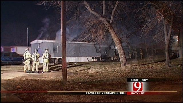 7 People Escape Southeast OKC Mobile Home Fire