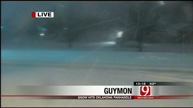 Winter Storm Brings Heavy Snow To Oklahoma Panhandle