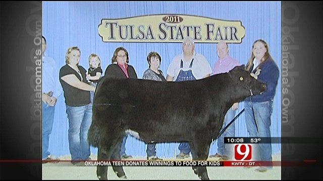OKC Teen Sells Steer, Donates Money To Food For Kids Program