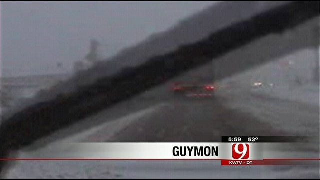 News 9 Follows Winter Storm Near Oklahoma Panhandle
