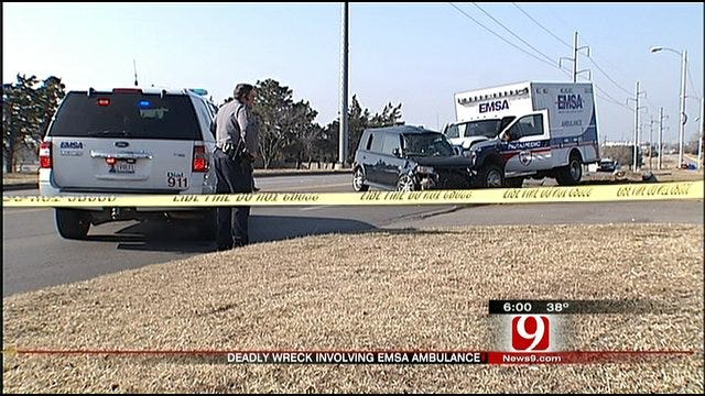 OKC Driver Dies After Wreck With Ambulance