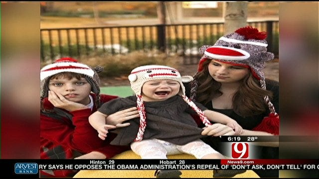 Kirsten McIntyre's Daughter Not Happy With Christmas Hat