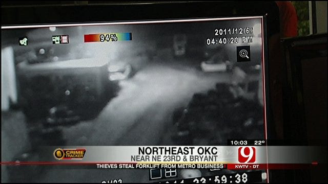 Thieves Stole Forklift From OKC Auto Salvage Business