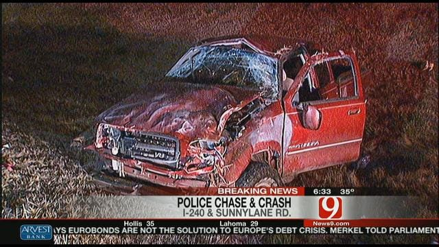 Police Chase Ends With Crash In Southeast OKC