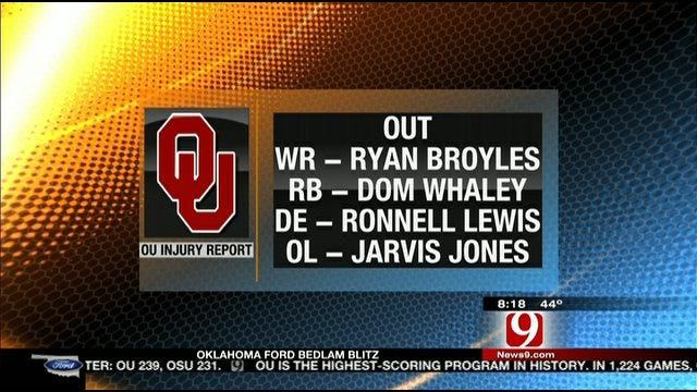 Key Injuries Going Into Bedlam
