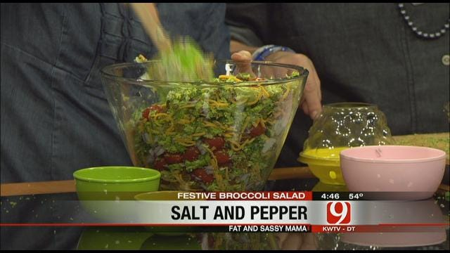 Fat & Sassy Mama Makes Festive Broccoli Salad