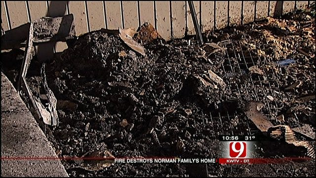 Norman Family Struggles With Life After Fire Destroys Home