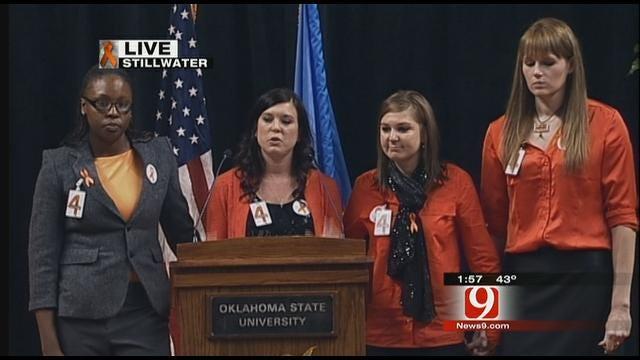 Former Members Of OSU Women's Basketball Team Speak At Memorial
