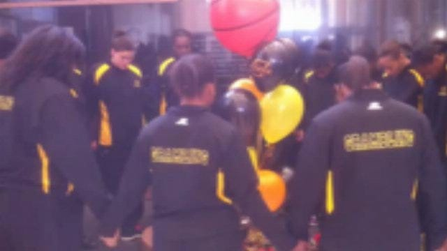 Grambling State Team Pays Respects At OSU Memorial