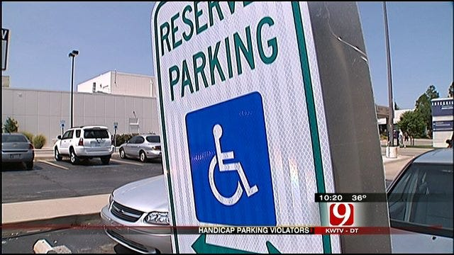 Handicap Parking Violations Enforcement Increased