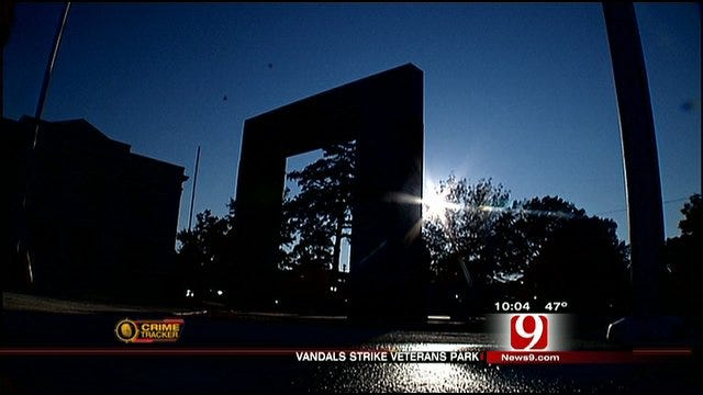 Vandals Strike Shawnee Veterans Memorial