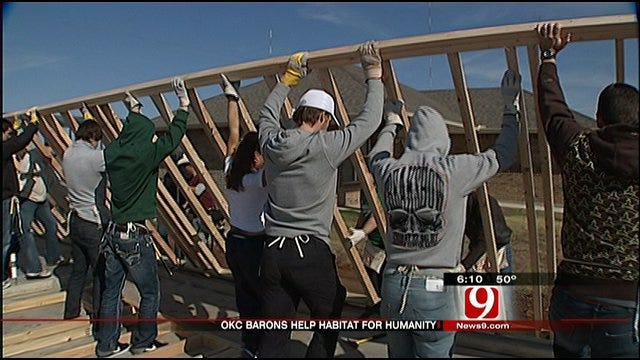 Barons Team Up With Habitat For Humanity