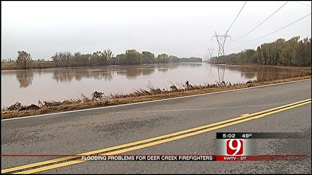 Flooding Keeps Deer Creek Firefighters From Responding To Emergencies