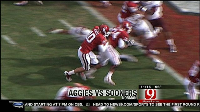 Sooners Roll Texas A&M To Stay Alive