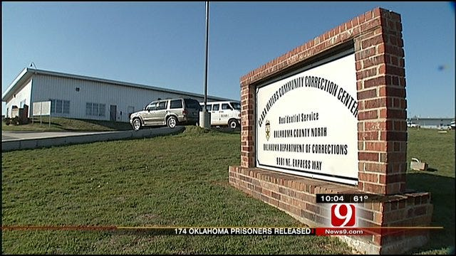 174 Oklahoma Inmates Released To Reduce Prison Overcrowding