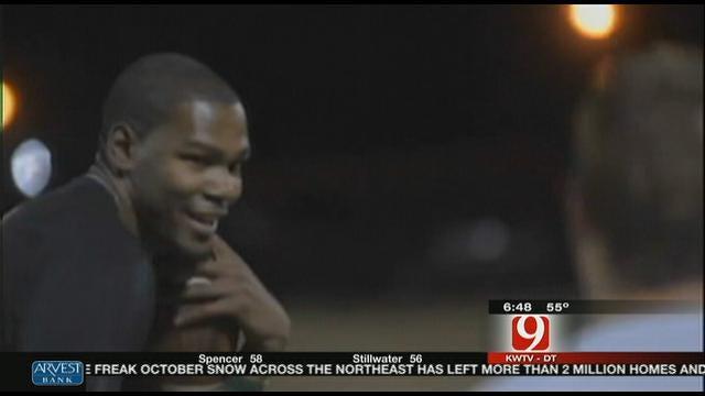 KD Plays Flag Football At OSU