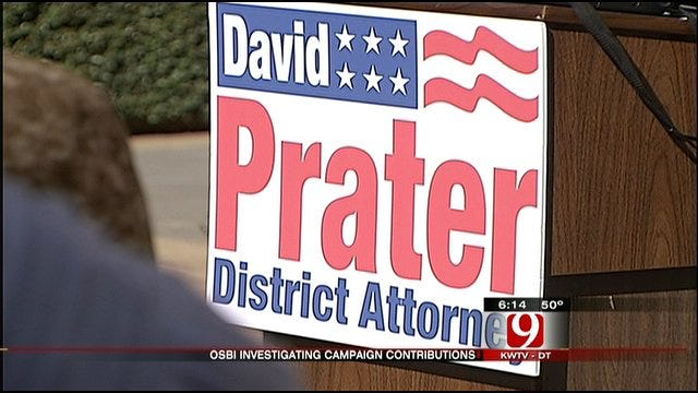 OSBI Opens Prater Campaign Contributions Probe