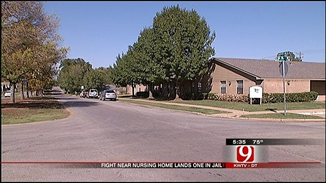 Fight Near OKC Nursing Home Lands One Person In Jail