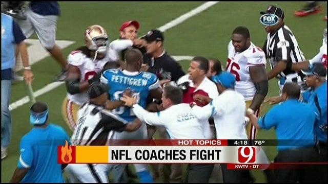 Hot Topics: Heated Handshake Between Football Coaches