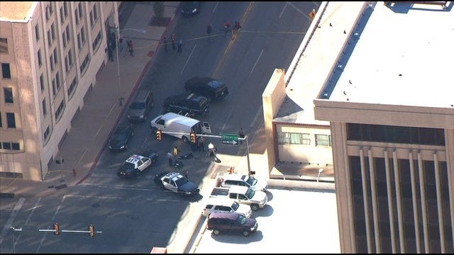 Bomb Squad Called To Suspicious Package In Downtown OKC