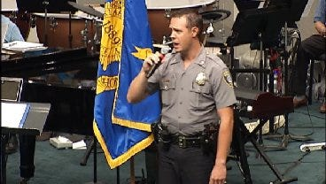 OKC Officer Performs Song For Fellow Officer Chad Peery