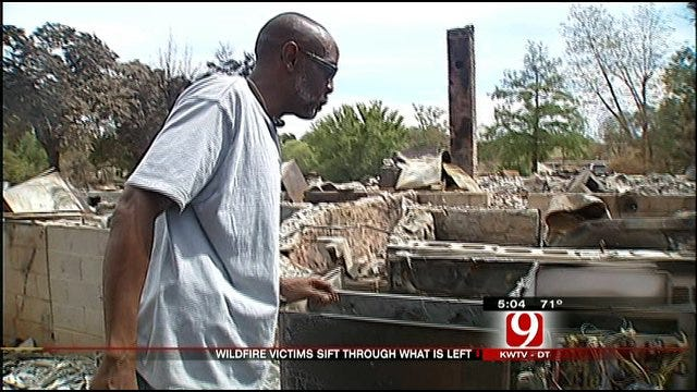 Fire Victims Sift Through Debris One Week Later
