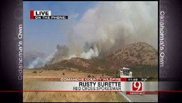 Red Cross Rusty Surette Talks About Comanche County Grassfire