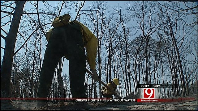 Elk City Firefighters Fight Wildfires Without Water