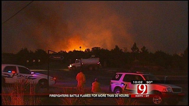 Wildfire Still Burning In Northeast Oklahoma County