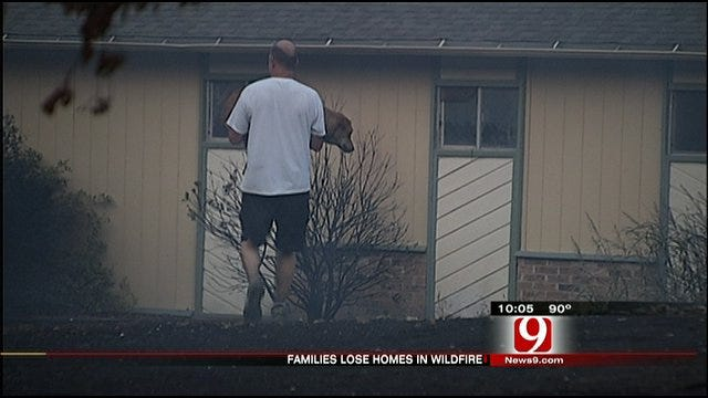 Families Lose Homes In Large Wildfire In Northeast OKC