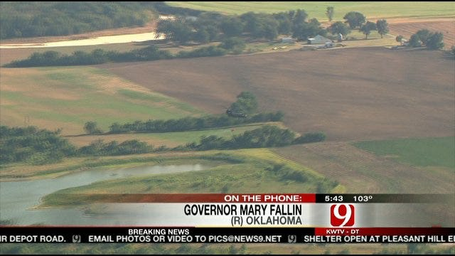 Oklahoma Governor Mary Fallin Talks To News 9 About Large NE OKC Wildfire