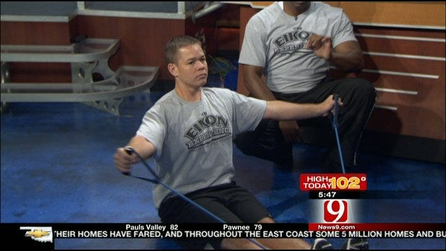 No-Excuses Tuesday: Working Your Back, Shoulders With Resistance Bands