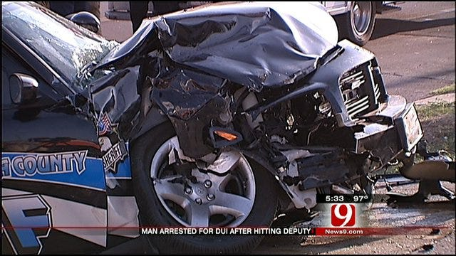 Man Jailed In Head-On Collision With Oklahoma County Deputy