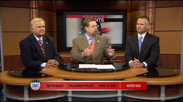 Your Vote Counts: S&P Payback, Oklahoma's Fallen, Perry At War, Water War