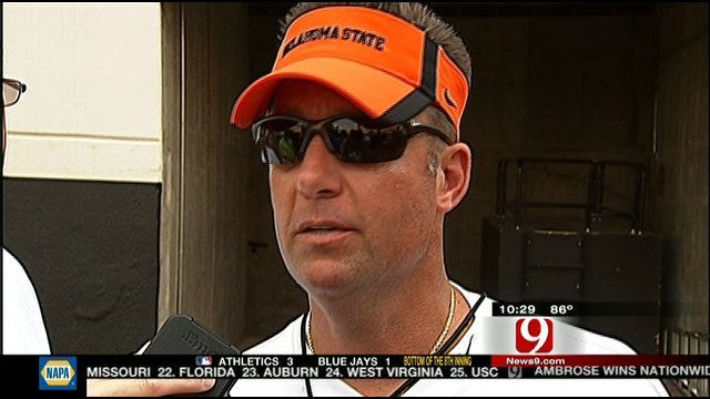 OSU Right On Pace, Gundy Says