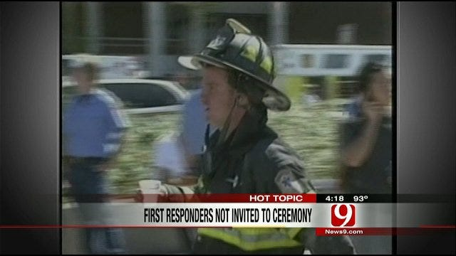 Hot Topics: First Responders Not Invited to 9-11 Ceremony